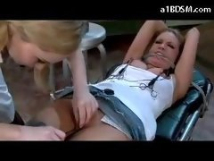 Busty Blonde Tied To Bed Movies And additionally Electric Pads On...