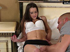 Defloration - a proficient takes Mirella's virginity