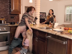 Kenzie Reeves fucked all over the beautiful kitchen