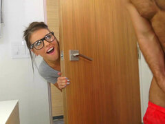 Hot student Adriana Chechik needs a break from her studies