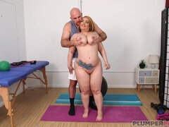 Risa Chacon's Workout - Chubby Mom hard core