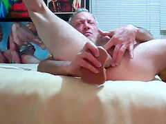 donk hole up close faux-cock and climax