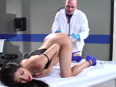 Doctor with a big dick fucking his skinny Latina patient