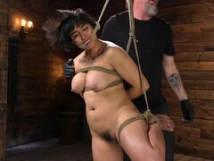 Mia is Bound in Grueling Rope Bondage and Brutally Tormented