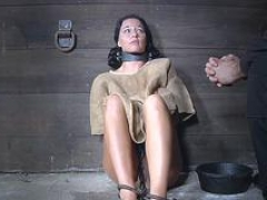 Blindfolded & restrained soccer mom gets dominated