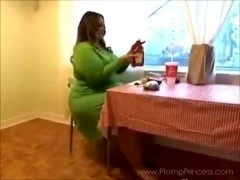 Overweight Princess Fast Food Feast (BBW fastfood stuffing)