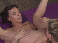 Cougars Dana Dearmond and Sasha Heart going wild with each other