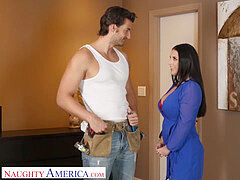 ultra-kinky America -Angela white surprises husbands buddy