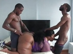Real bbw fucked by 2 black cock