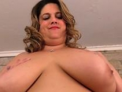 Mega Overweight Erin Green Stimulates Her Fat Pussy with a Toy and Vibrator