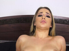 Rebellious stepsister Mila Marx repays her brother with a nice pussy of hers