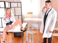 Angelic blonde with round bottom Isabelle Deltore fucked by a big cock