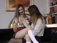 Sexually available mom babe spanking busty schoolgirl