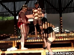 BBW dominas spank & facesit a guy