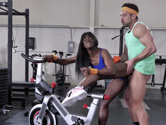 Ebony with a body that will make your jaw drop Ana Foxxx loves a good post workout fuck