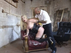 British blonde whore has anal sex even when she is in prison