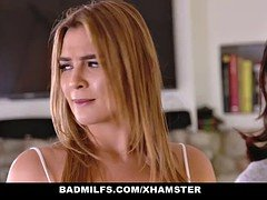 BADMilfs - Step-MOM Jacks Off and moreover Makes love Step-Son
