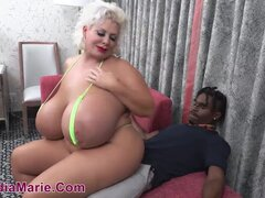 Fat mature with enormous tits takes BBC into huge ass