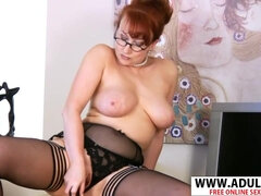 Adorable Housewife Red  Gives Cock Sucking Good Exciting Step-son - red