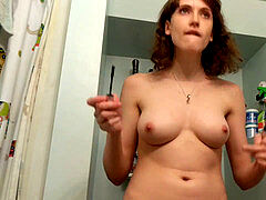 highly youthfull step-sister caught hidden cam before a date (part 2)