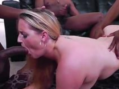 Hot soccer mom interracial and cumshot