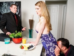 Awesome busty mademoiselle Bunny Colby penetrated in the kitchen