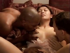 Cheating Asiatic Wife Mika BBC Sticky creampie Group-fuck