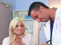 Pretty, blonde lady is fucking her doctor