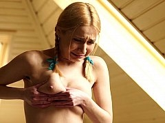 Fresh-faced legal teen whipped by her master