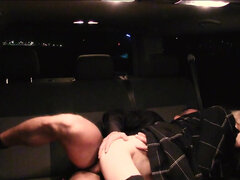 Sweet blonde Beatrix Glower fucks in the backseat of a taxi