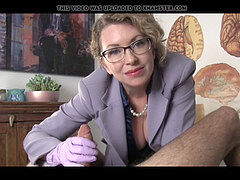 doc gives chronic masturbator hand job until he finishes off
