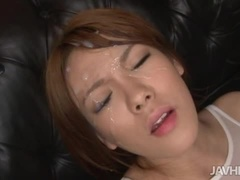 Hot Rei acting in a sperm shot porn movie