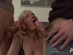 Jolie is a blonde babe who likes to blow dick a lot