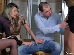 Wet MILF Hos In Ripped Hose Part 1