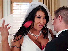 meaty jugs bride cheats on her wedding day with the best dude