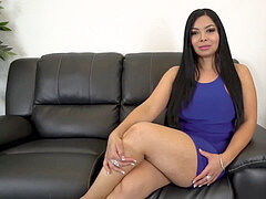 bootylicious Latina pulverized and splashed with cum properly