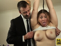 Punishment bdsm with busty whore that deepthroats