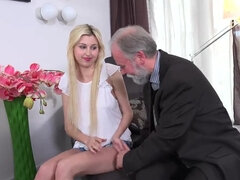 Ellen Jess gets eaten out and fucked hard by an old stranger