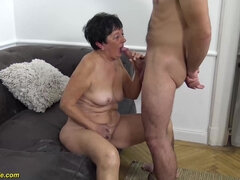 hairy 82 years old grandma first toyboy sex