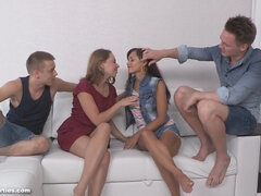 Double date and double shagging - foursome sex